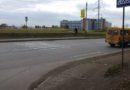 Пешеходный переход у остановки на ул. Воронова 1